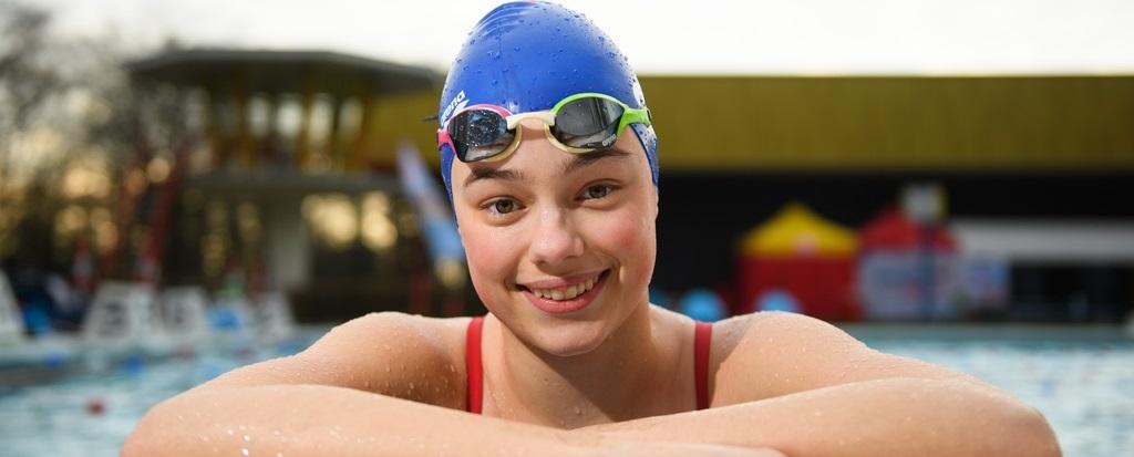 Keertje duf vanwege zwemtraining mag best
